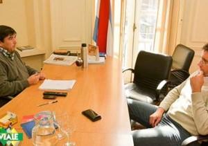 Positivo encuentro entre el Int. Brupbacher y el Ministro Fuertes