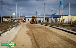 Se realizaron tareas previas al hormigonado de otra calle del Parque Industrial2